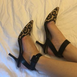 Sam Edelman Shoes - Sam Edelman Leopard Print Ankle Strap Heel